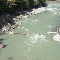 落滝橋付近の様子