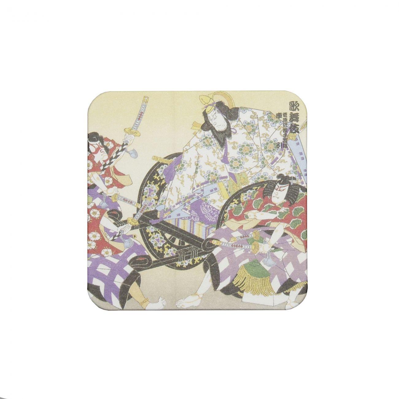 Ukiyoe Coaster Kabuki