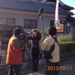 奈良テレビ取材in三宅 岩田泉さん