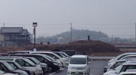 まるハゲになった瓢箪山