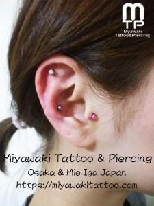 miyawaki piercing outer conch