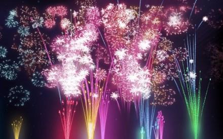 fireworks holidays wallpaper winter