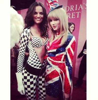 Taylor Swift and Barbara Fialho Backstage