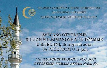 Bijeljinska Sulejmanija – Sultan Sulejmanova Atik džamija