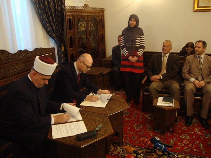 Reisu-l-ulema i turski ambasador potpisali Protokol o saradnji na sanaciji šteta od poplava