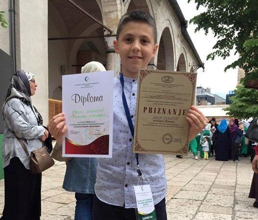 Malik Okanović osvojio treće mjesto na XX finalnom takmičenju na nivou Rijaseta Islamske zajednice u Bosni i Hercegovini