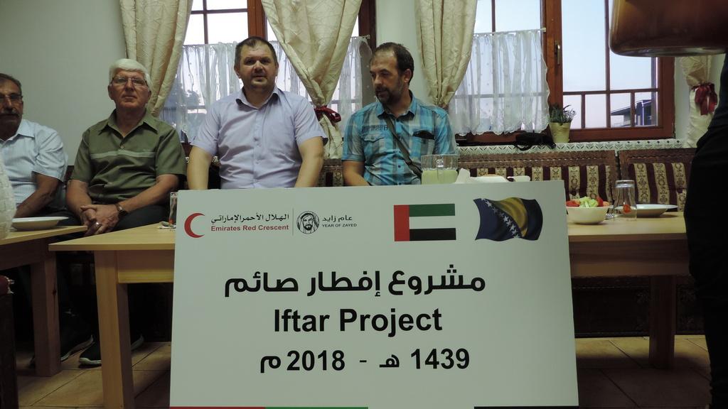 Crveni polumjesec Ujedinjenih Arapskih Emirata sponzorirao iftar za džematlije Bijeljine
