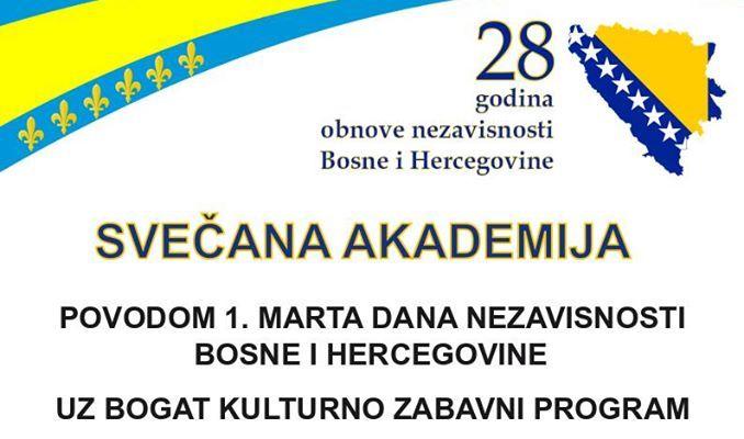JANJA: Tradicionalna Svečana akademija povodom Dana nezavisnosti Bosne i Hercegovine