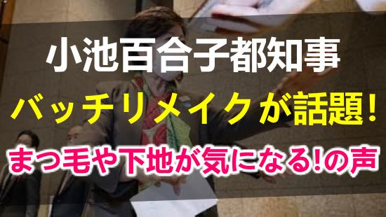 バッチリメイクの小池百合子東京都知事