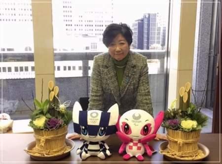 笑顔の小池百合子東京都知事