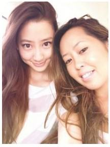 河北麻友子と姉の莉央子2ショット