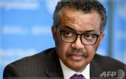 WHOテドロス事務局長の顔画像