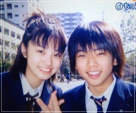 金八先生時代で共演した上戸彩と増田貴久の2ショット顔画像