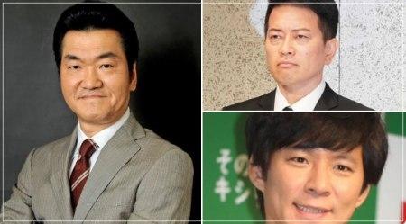 行列のできる法律相談所を降板となった島田紳助と宮迫博之と渡部建の顔画像