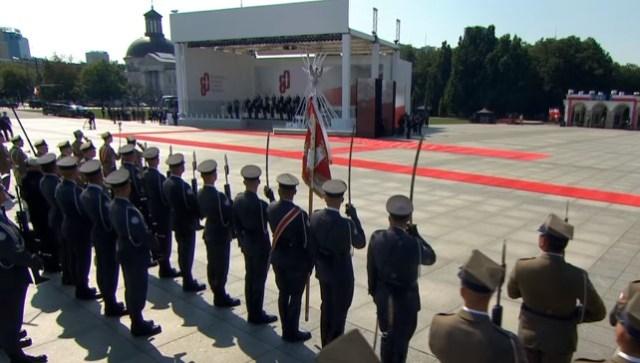 Uroczystości na Placu Piłsudskiego z okazji 80. rocznicy rozpoczęcia II Wojny Światowej