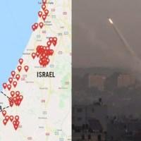 Trwa zmasowany atak rakietowy na Izrael! Tysiące ludzi w schronach [VIDEO]