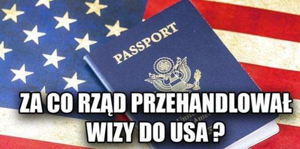 Za co rząd przehandlował wizy do USA?