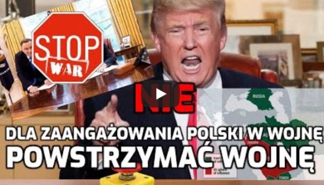 Sprzeciw wobec okupacji Polski i Bliskiego Wschodu przez Stany Zjednoczone!