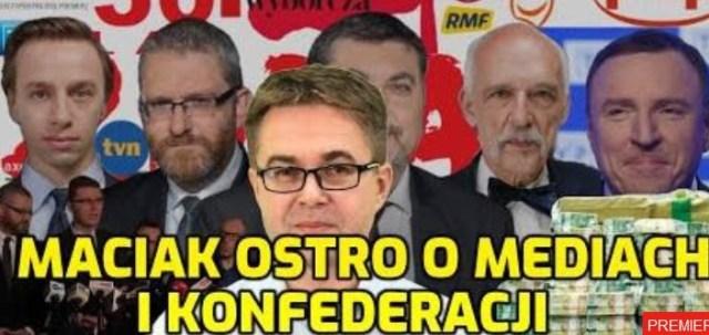 MACIAK OSTRO O KONFEDERACJI i 2MLD dla SZUJNI TVPIS