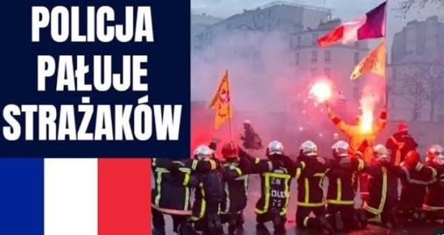 Macron wysłał POLICJE do pałowania STRAŻAKÓW – Protest strażaków w Paryżu
