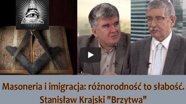"""Masoneria i imigracja: różnorodność to słabość. Stanisław Krajski """"Brzytwa"""""""