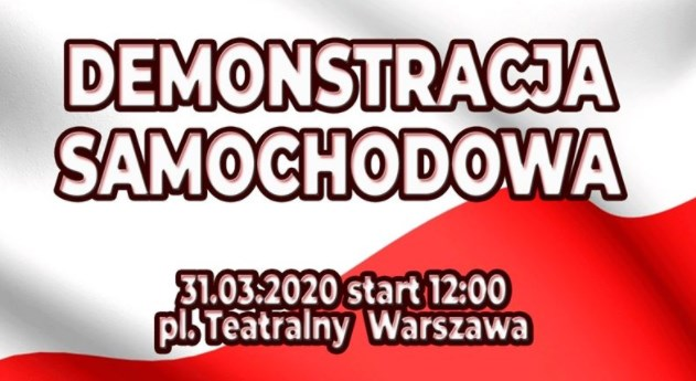 Strajk przedsiębiorców 31 03 2020 Warszawa