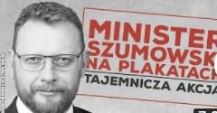 Tajemnicza akcja plakatowa z Łukaszem Szumowskim! Analiza