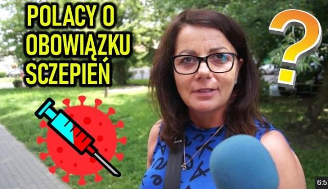 Czy Polacy popierają obowiązek szczepień przeciwko koronawirusowi SONDA ULICZNA