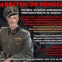 Wałbrzych. Prezydent Szełemej przedstawiony jako SS-man i porównany do Josefa Mengele
