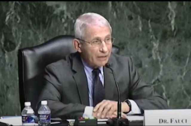 Dr Fauci zeznaje przed Komisją Senacką USA w sprawie covid19.