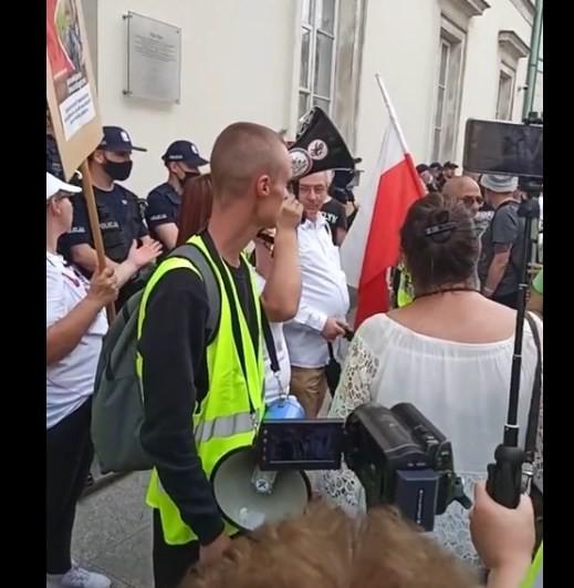 12.06.2021r Warszawa ws. przymusu szczepień protest