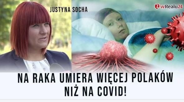 Na  raka umiera więcej Polaków niż na Covid Po co nam loteria szczepionkowa