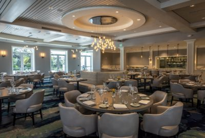 The Craft Bar & Grill features an elegant bar and dinning room with an open kitchen concept.