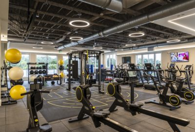 The fitness center with state-of-the-art Technogym equipment and connected wellness experience.