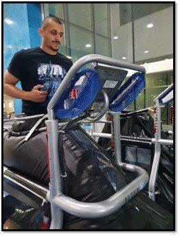 Mizo Amin on an anti gravity treadmill