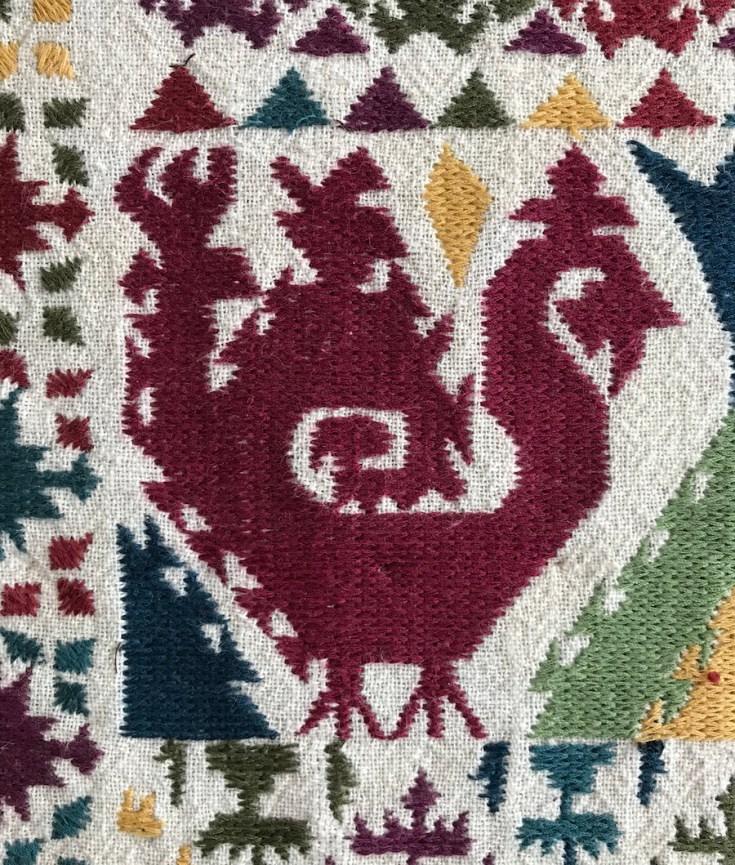 Burka, embroidery, Tadjikistan