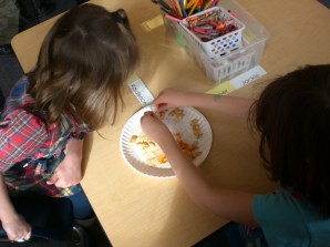 Students counting seeds!