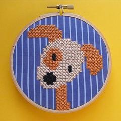 刺繍 イメージ 犬