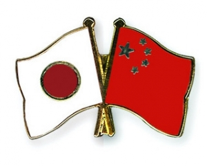 中国 日本 Flag