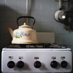 ガス 台所 お湯 イメージ