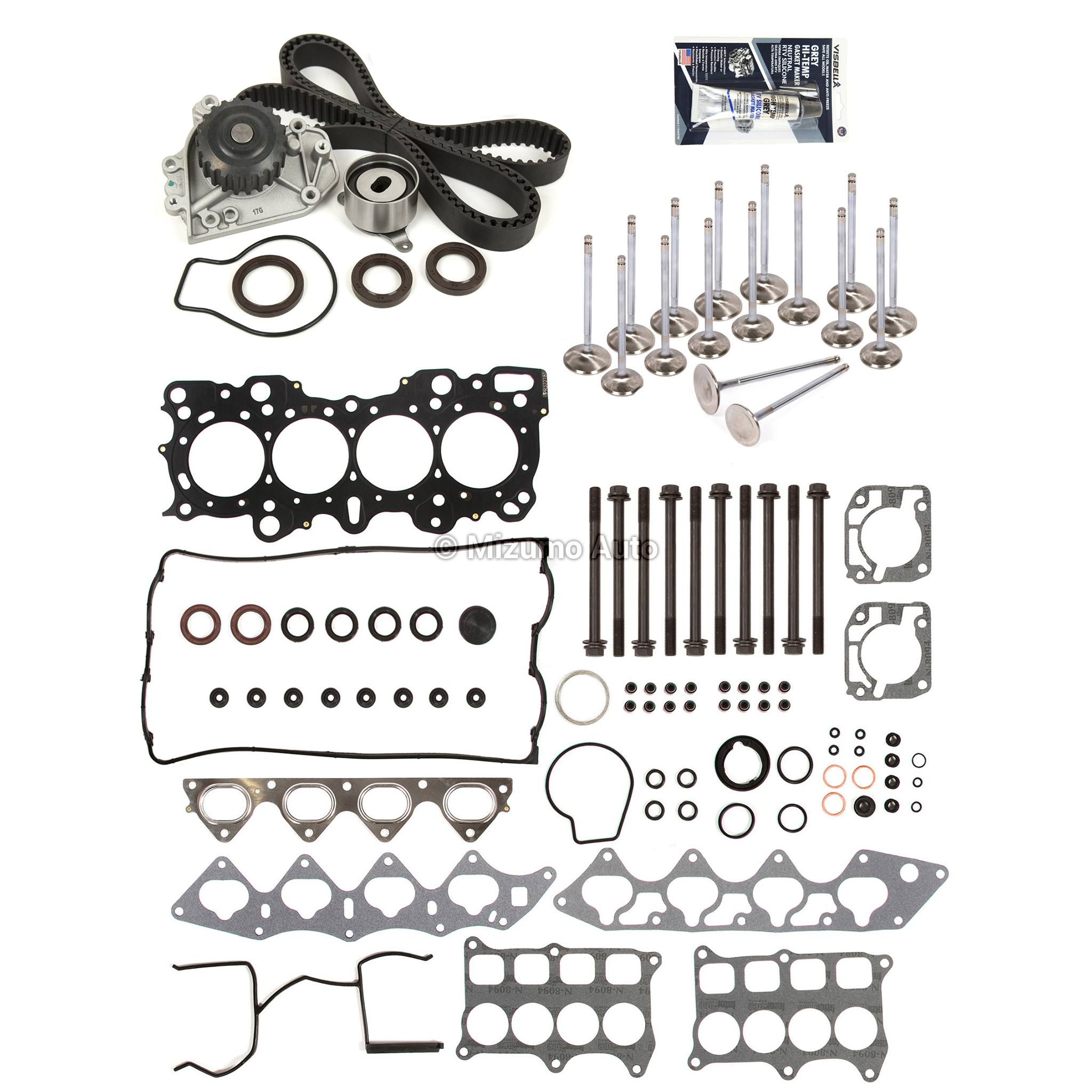 Mls Head Gasket Set Valves Timing Belt Kit Fit 94 01 Acura