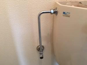 止水栓を開きます
