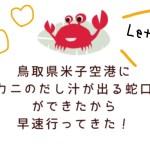 鳥取県米子鬼太郎空港に【カニのだし汁が出る蛇口】がある!無料らしいから行ってみた。