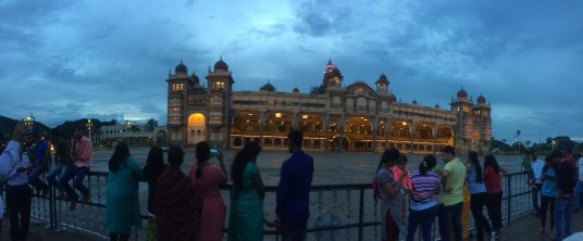 Before Mysore Royal Palace was lit