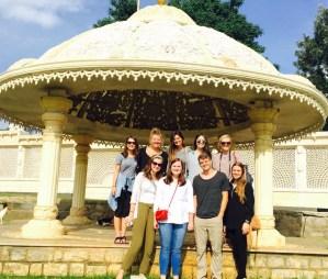 The group at Ashram
