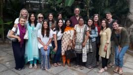 The group at brunch! Including our principal at DPS-N Manju and Sowmya!