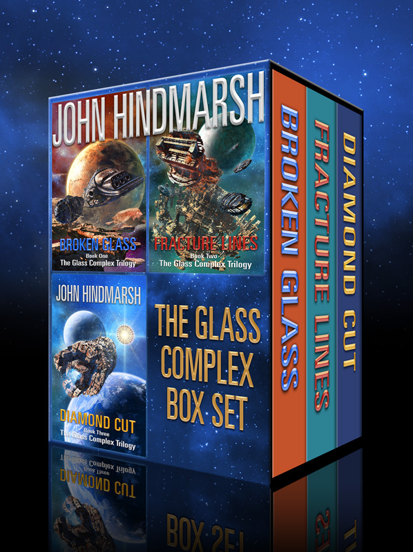 'The Glass Complex Trilogy' 3D Boxset Artwork
