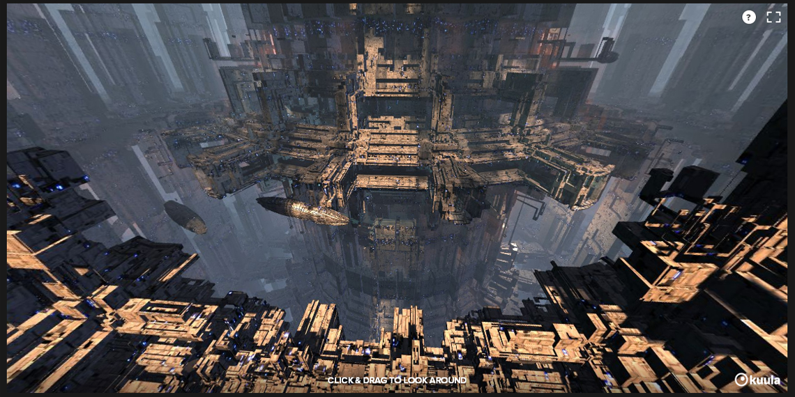 'Tier' – 360° Interactive Panoramic 3D Fractal Image