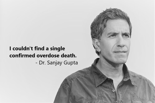 I couldn't find a single confirmed overdose death. - Dr. Sanjay Gupta