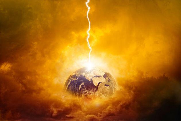 lightning hitting earth